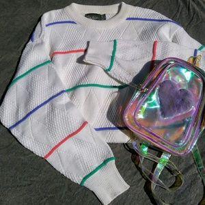 🆕 Vintage Kawaii Oversized Pastel Sweater 80s 90s